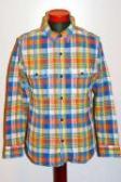 UES (ウエス) 追撚チェックシャツ 501404 ブルー