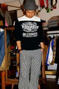 GROOVERS (グルーヴァーズ)/7分袖Tシャツ/PERDUE/ブラック×ホワイト