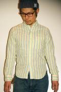 JELADO (ジェラード) ストライプ・ボタンダウンシャツ JPSH-1501 バナナイエロー