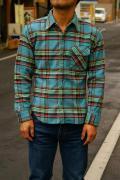 DELUXEWARE (デラックスウエア)/50sヘビーネルシャツ/HV-10/ブルーチェック