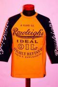 MWS (エムダブルエス)/7分袖Tシャツ/RAW LEIGH'S/サンフラワー×E.ネイビー