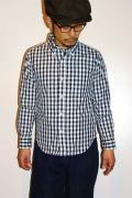 UES (ウエス) コードギンガムチェック・ボタンダウンシャツ 501405 ネイビー