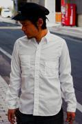 JELADO (ジェラード) コットンブロード・ワークシャツ JP94101 ホワイト