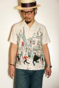 """STAR OF HOLLYWOOD (スターオブハリウッド) 半袖オープンシャツ SH37598 """"PARIS"""" オフホワイト"""