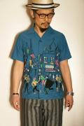 "STAR OF HOLLYWOOD (スターオブハリウッド) 半袖オープンシャツ SH37598 ""PARIS"" ブルー"
