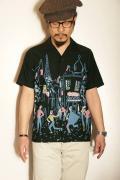 "STAR OF HOLLYWOOD (スターオブハリウッド) 半袖オープンシャツ SH37598 ""PARIS"" ブラック"