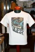 "DELUXEWARE (デラックスウエア) 半袖Tシャツ 7004 ""OVER"" ホワイト"