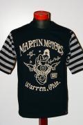 MWS (エムダブルエス)/5分袖Tシャツ/1013705/MARTIN MOTORS/ブラック