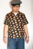 "STAR OF HOLLYWOOD (スターオブハリウッド) 半袖オープンシャツ SH37283 ""SQUARES"" ブラック"