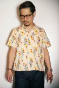 "STAR OF HOLLYWOOD (スターオブハリウッド) 半袖オープンカラーシャツ SH36951 ""PIERROT"" オフホワイト"