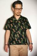 "STAR OF HOLLYWOOD (スターオブハリウッド) 半袖オープンカラーシャツ SH36951 ""PIERROT"" ブラック"