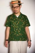 "STAR OF HOLLYWOOD (スターオブハリウッド) 半袖オープンカラーシャツ SH36952 ""BOOMERANG"" グリーン"