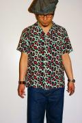 スターオブハリウッド/半袖オープンカラーシャツ/SH36158/JAGUAR/ミントグリーン