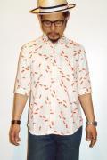 衣櫻 (ころもざくら) 5分袖シャツ SA-864 金魚 ホワイト