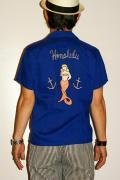 STYLE EYES (スタイルアイズ)/ボウリングシャツ/SE35721/Honolulu/ブルー