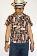 JELADO (ジェラード) 半袖オープンカラーシャツ JSGSH-5009 ブラック