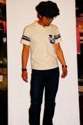 DELUXE WARE (デラックスウエア)/半袖ポロシャツ/ILLINOIS/アイボリー
