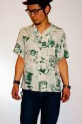 スターオブハリウッド/オープンカラーシャツ/SH35385/MAGAZINE/グリーン