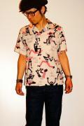 スターオブハリウッド/オープンカラーシャツ/SH35387/RIDDIM/ピンク