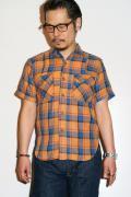 JELADO (ジェラード) ベンチレーション・半袖ワークシャツ JP02103 フェイドオレンジ