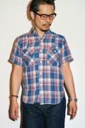 JELADO (ジェラード) ベンチレーション・半袖ワークシャツ JP02103 フェイドピーチ