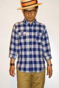 """JELADO (ジェラード) 7分袖シャツ JAGSH-015 """"Squad Shirts"""" オールドブルー"""