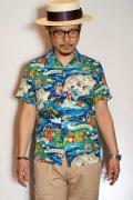 """SUN SURF Special Edition (サンサーフ・スペシャルエディション) 半袖ハワイアンシャツ SS36984 """"LAND OF ALOHA"""" ネイビー"""