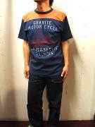 BLUE BUCK (ブルーバック)/Tシャツ/GRANITE MOTOR CYCLE/ネイビー