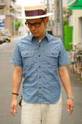 JELADO (ジェラード) 半袖シャンブレーシャツ JP02110 インディゴ