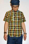 JELADO (ジェラード)/リネン半袖シャツ/5MH-1209/ランバーマンシャツ/ライムグリーン