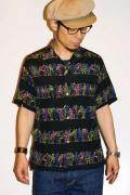 スターオブハリウッド/半袖オープンカラーシャツ/SH35817/JAZZY & LOUD/ブラック
