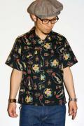 スターオブハリウッド/半袖オープンカラーシャツ/SH35818/CLOWN/ブラック