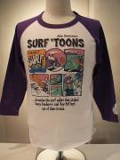 JOHN SEVERSON (ジョン・セバーソン)/7分袖T/SURF TOON/ホワイト×パープル