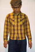 UES (ウエス) 先染ヘビーネルシャツ 501452 イエロー