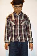 UES (ウエス) 先染ヘビーネルシャツ 501453 ブラック