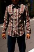 UES (ウエス)/先染ヘビーネルシャツ/501151/ブラック