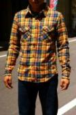 UES (ウエス)/先染スラブネルシャツ/501153/ネイビー