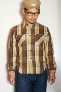 JELADO (ジェラード) ヘヴィーネルシャツ (ショート丈) JP02107 チョコレートブラウン