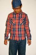 UES (ウエス) 先染ヘビーネルシャツ 501351 ピンク
