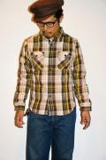 UES (ウエス) 先染ヘビーネルシャツ 501352 イエロー
