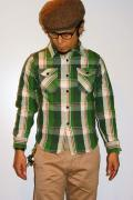 UES (ウエス)/先染ヘビーネルシャツ/501252/オリーブグリーン