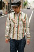 JELADO (ジェラード) ヘヴィーネルシャツ (ショート丈) JP02107 クリーム