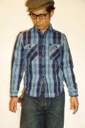 JELADO (ジェラード) ヘヴィーネルシャツ (ショート丈) JPSH-1311 インディゴ
