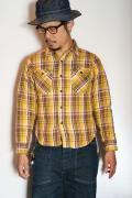 UES (ウエス) 先染ヘビーネルシャツ 501552 イエロー