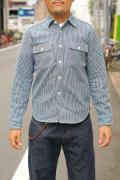 JELADO (ジェラード) ヘヴィーネルシャツ (ショート丈) JP94105 ヒッコリー