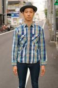 JELADO (ジェラード) ヘヴィーネルシャツ (ショート丈) JP02107 オールドネイビー