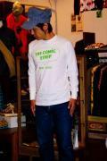 DUBBLE WORKS (ダブルワークス)/長袖Tシャツ/COMIC STRIP/オフ
