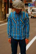 SUGAR CANE (シュガーケーン)/チェックワークシャツ/SC25481/ネイビー