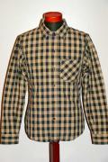 """DELUXEWARE (デラックスウエア) ワークシャツ WWS-22 """"MONOCHROME SHIRT"""" ホワイトバッファロー"""