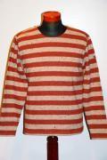Pherrow's (フェローズ) ウールボーダー・バスクシャツ 13W-PWBT1-B ベージュ杢×レッド